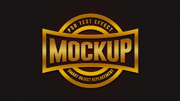 3d golden badge text effekte modell Premium PSD