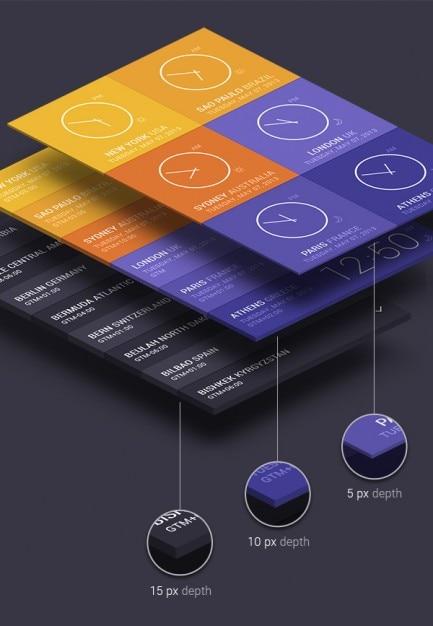 3d mock-up mit isometrischen perspektive Kostenlosen PSD
