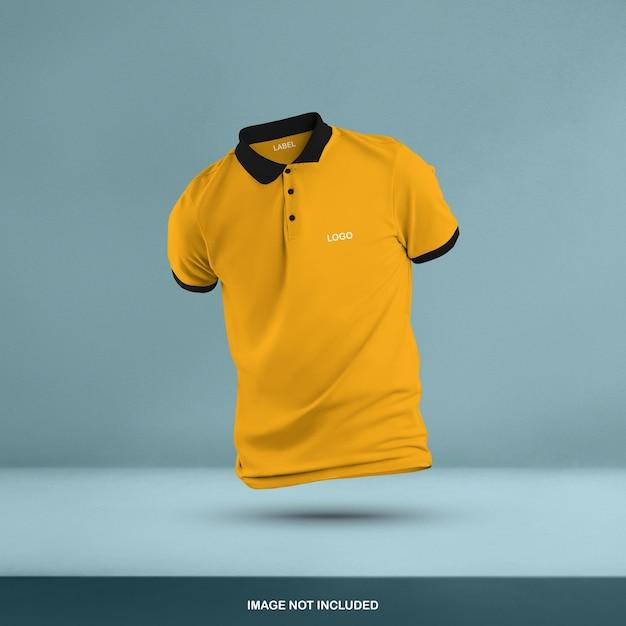 3d polo t shirt mockup design isoliert Premium PSD