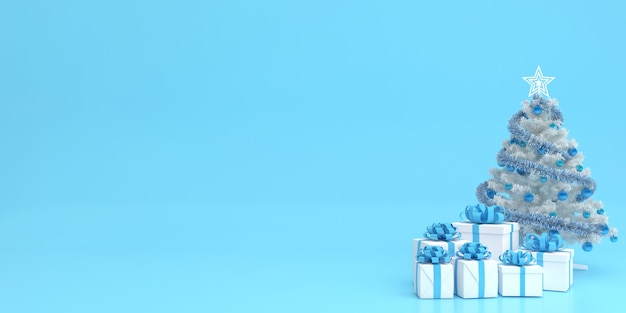 3d-rendering-anzeige pastellfarbe frohe weihnachten und ein gutes neues jahr modell Premium PSD