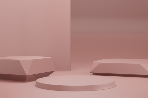 3d-rendering-illustrationsbühnenanzeige-hintergrundmodell Premium PSD