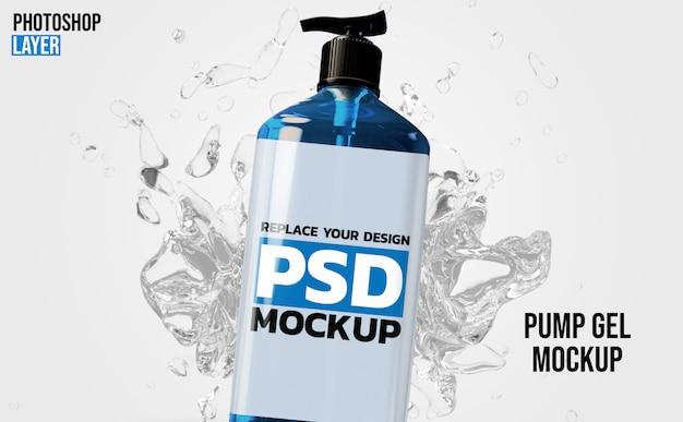 3d-rendering-modell der gelpumpenflasche Premium PSD