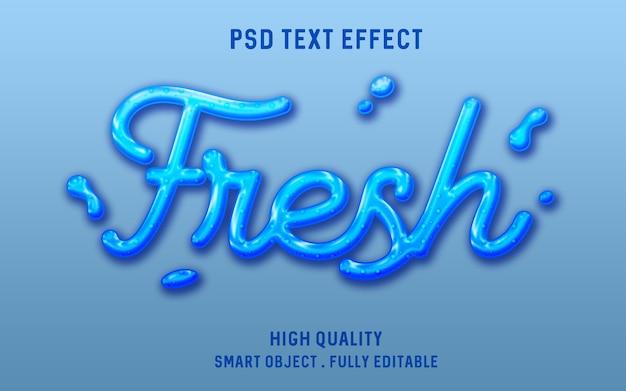 3d süßwasserflüssigkeitstext-effekt Premium PSD