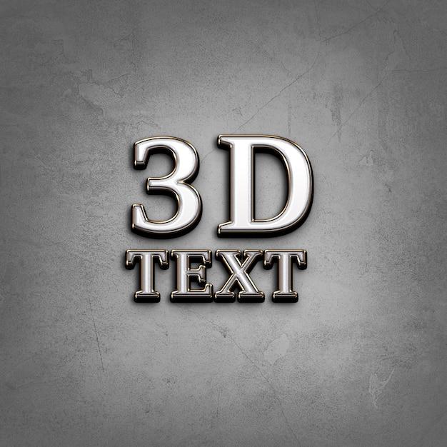 3d-texteffekt Premium PSD