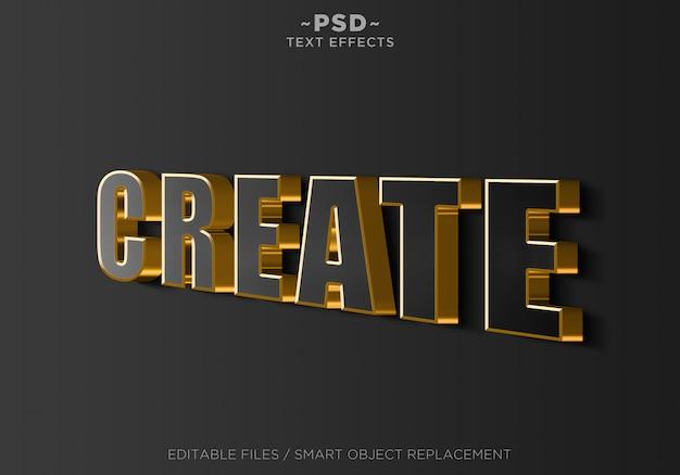 3d-zeichenwand schwarzgold bewirkt bearbeitbaren text Premium PSD