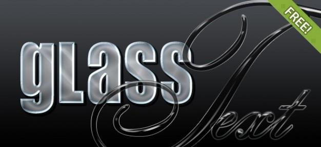 4 free glass photoshop styles Kostenlosen PSD