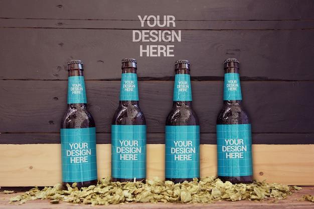 4 in 1 slate beer mockup Premium PSD