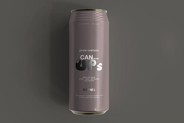 500ml sleek soda can mockup Kostenlosen PSD