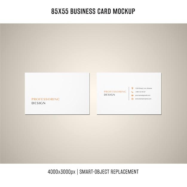85x55 visitenkartenmodell Kostenlosen PSD