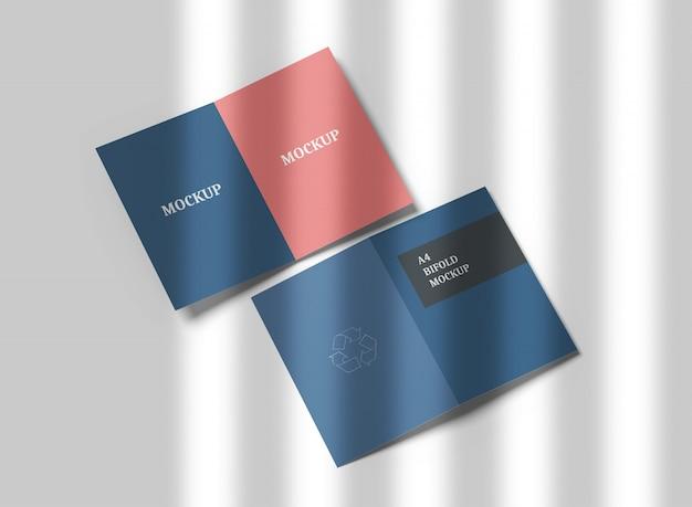 A4 bifold broschüre modell Premium PSD