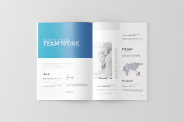 A4 broschüren- / katalog-modell Premium PSD