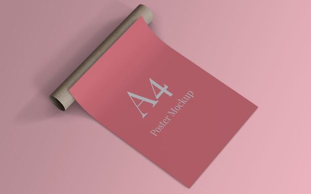 A4 poster modellablage mit rollkarton Premium PSD