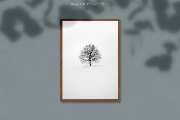 A4 vertikaler leerer bilderrahmen für fotos Premium PSD