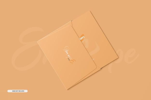 A5 a6 folded invitation card mockup Kostenlosen PSD
