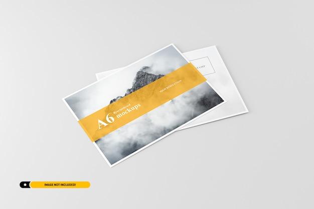 A6 flyer postkartenmodell Premium PSD