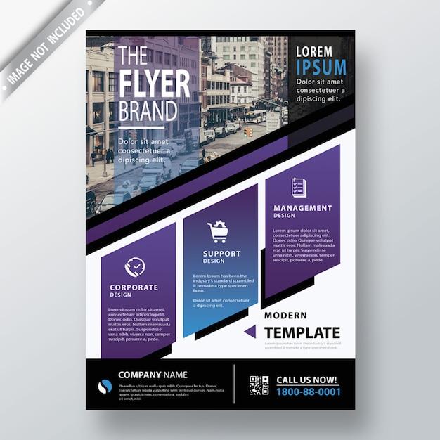Abstrakte cover-design-vorlage Kostenlosen PSD
