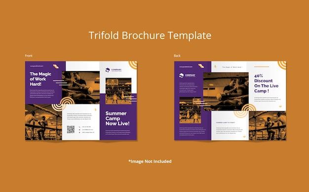 Abstrakte form sport trifold broschüre vorlage Premium PSD