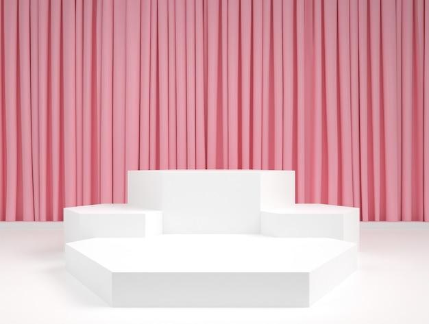 Abstrakte geometrische form pastellfarbe minimales podium bühnenanzeigemodell Premium PSD