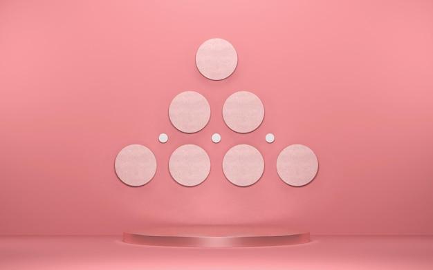 Abstrakte szene für produktanzeige mit geometrischen formen Premium PSD