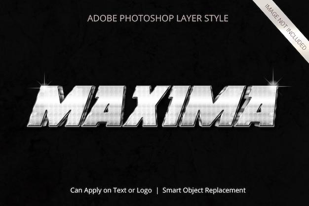 Adobe photoshop-ebenenstil-texteffekt Premium PSD