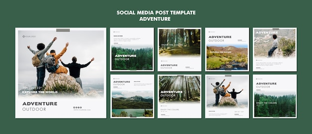 Adventure social media post vorlage Premium PSD