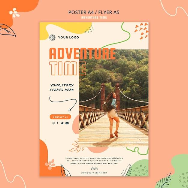 Adventure time poster vorlage Kostenlosen PSD