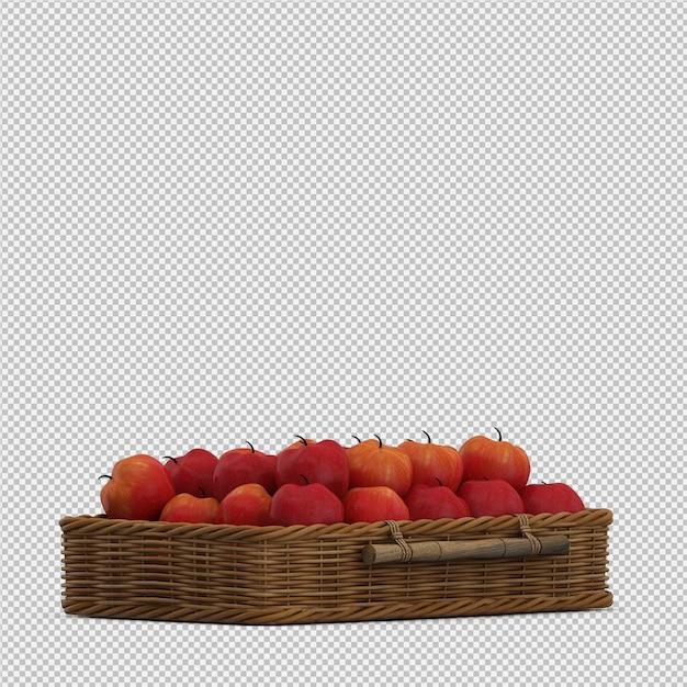 Äpfel 3d übertragen Premium PSD