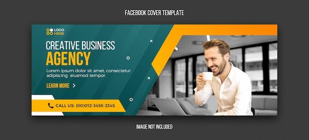 Agentur moderne facebook-cover-design-vorlage Premium PSD