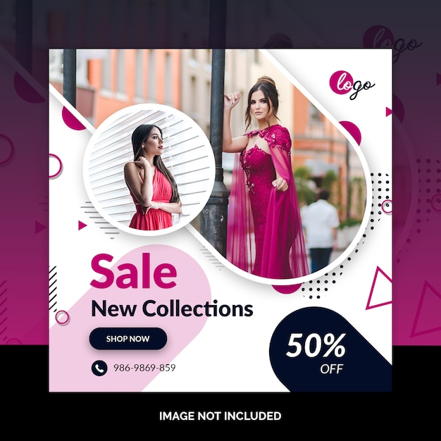 Angebotverkaufsweb-social media-fahnenschablone Premium PSD