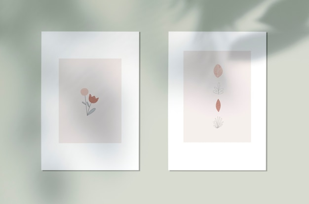 Angeredetes botanisches designplakat Kostenlosen PSD