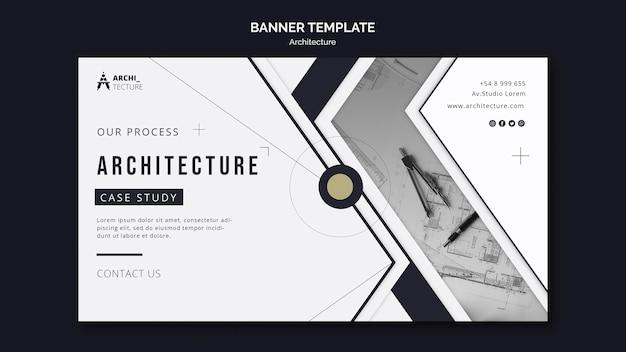 Architekturkonzept-banner-vorlage Kostenlosen PSD