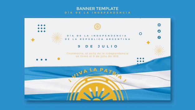 Argentinien unabhängigkeitstag banner vorlage Kostenlosen PSD