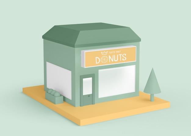 Außenwerbung donuts shop Kostenlosen PSD