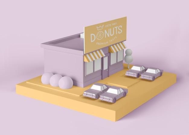 Außenwerbung donuts store Kostenlosen PSD