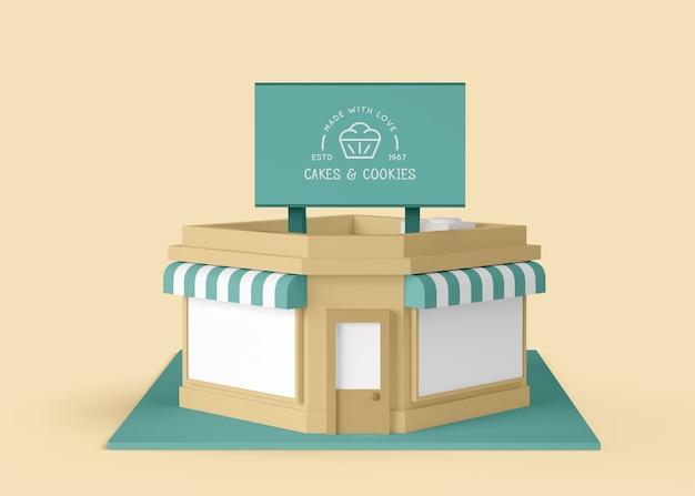 Außenwerbung für kuchen und kekse Premium PSD