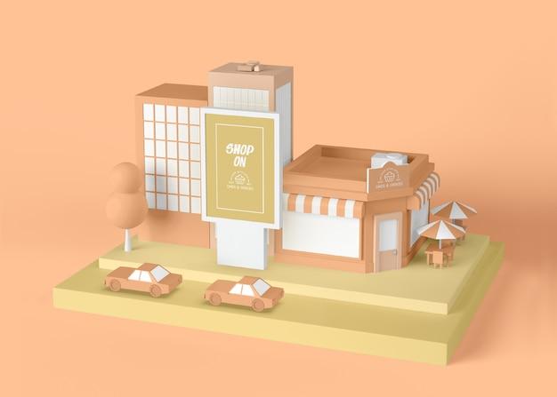 Außenwerbung shop auf konzept Kostenlosen PSD