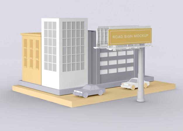 Außenwerbung straßenschild modell Kostenlosen PSD