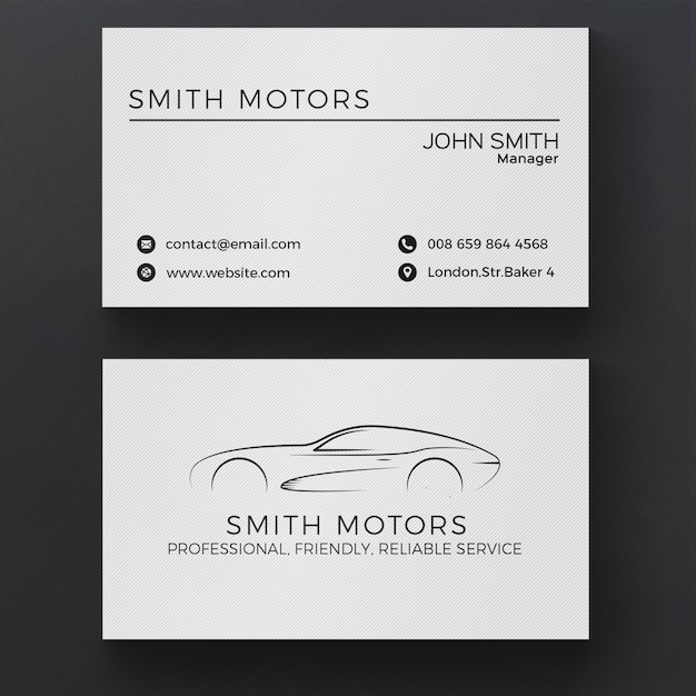 Auto Service Visitenkarte Kostenlose Psd Datei