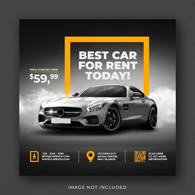 Autovermietung social media instagram post banner vorlage Premium PSD