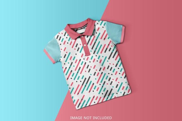 Baby polo t shirt modell design isoliert Premium PSD