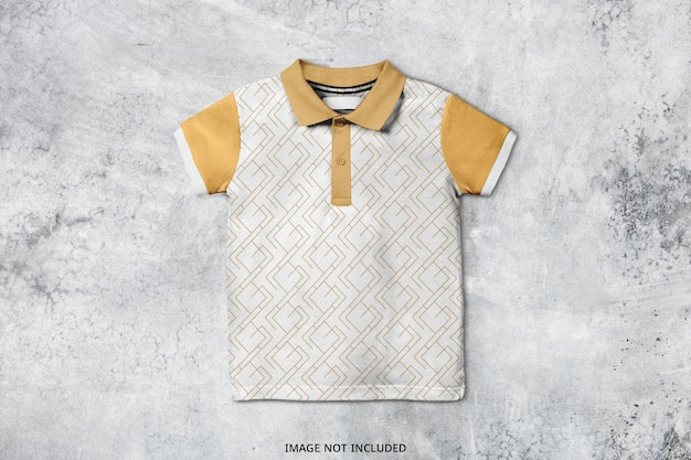 Baby polo t shirt modell design isoliert Premium PSD