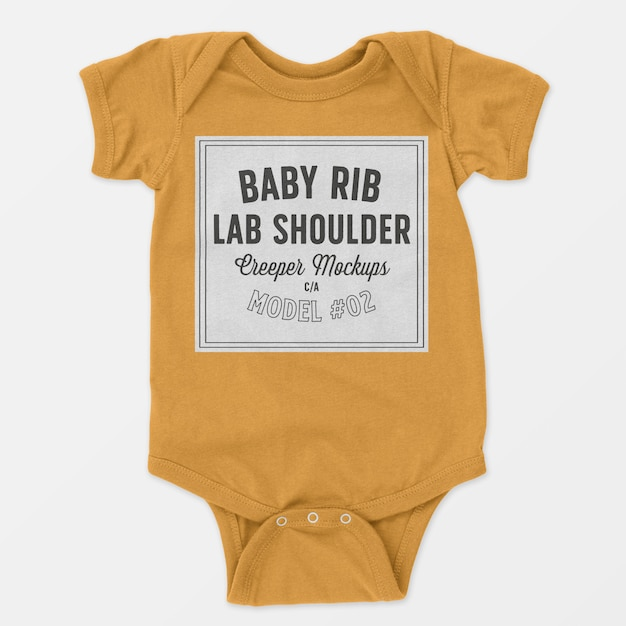 Baby rib lap schulter creeper modell 02 Kostenlosen PSD