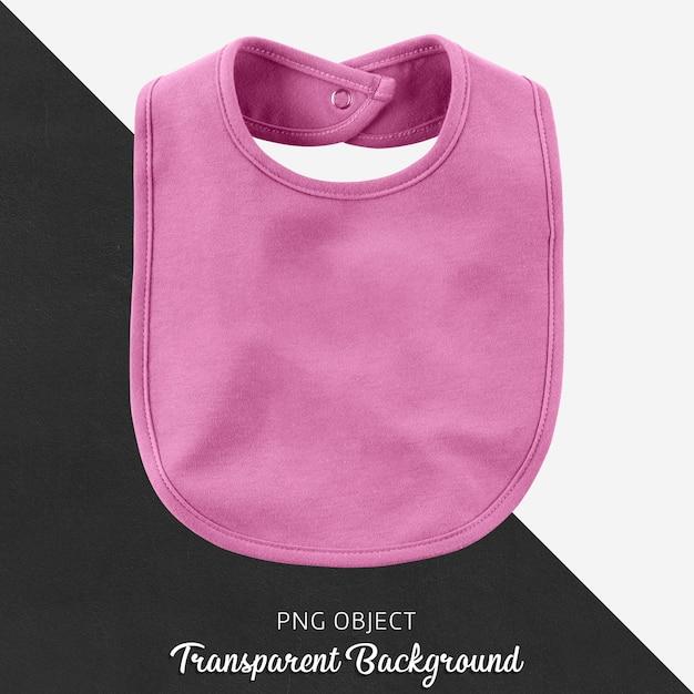 Baby rosa lätzchen auf transparentem hintergrund Premium PSD
