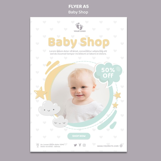Baby shop flyer vorlage Kostenlosen PSD