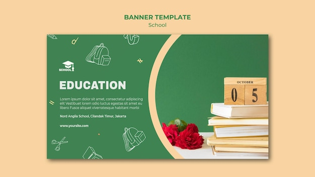 Back to school ad banner vorlage Kostenlosen PSD