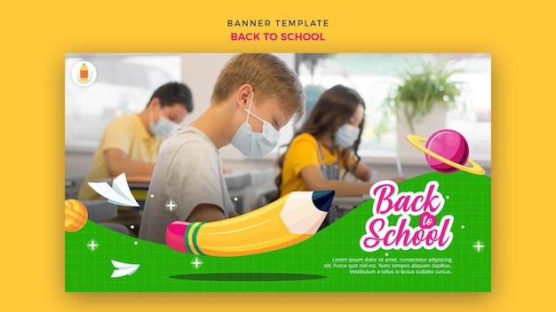 Back to school banner vorlage Kostenlosen PSD