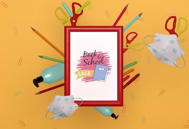 Back to school briefpapier modell Kostenlosen PSD