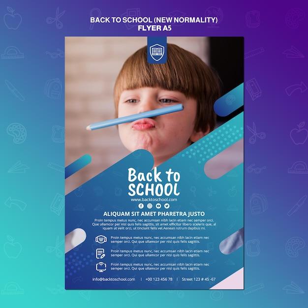 Back to school flyer vorlage Kostenlosen PSD