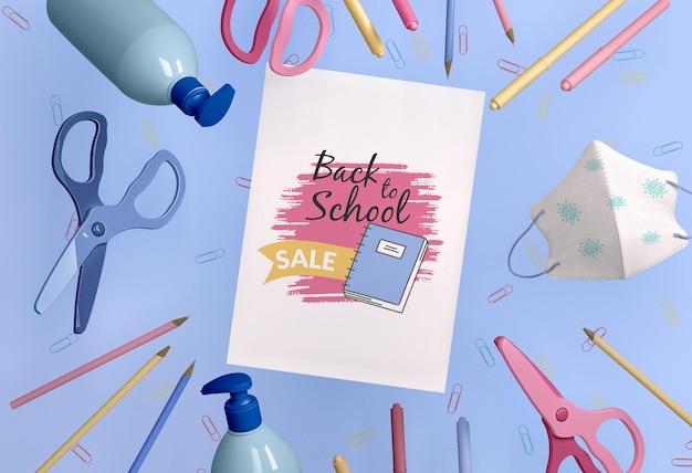 Back-to-school-konzeptmodell Premium PSD