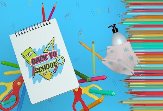 Back-to-school-konzeptmodell Kostenlosen PSD